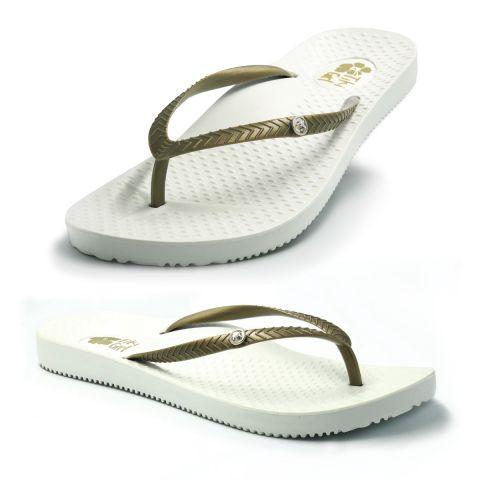 Tiki Girl Flip-Flops WHITE