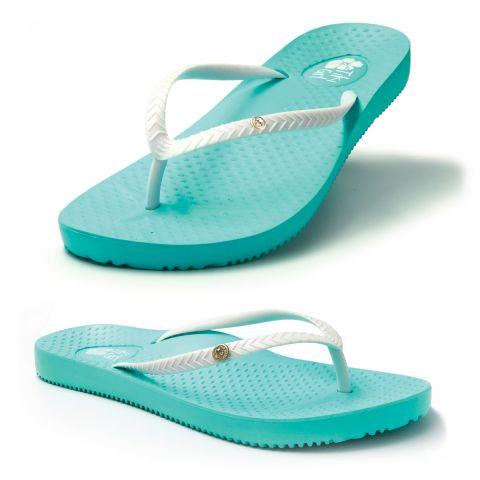 Tiki Girl Flip-Flops AQUA