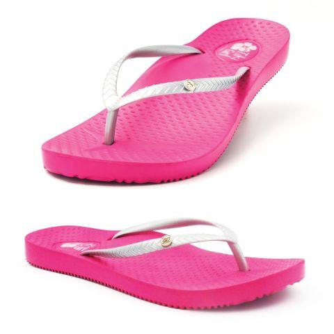 Tiki Girl Flip-Flops PINK