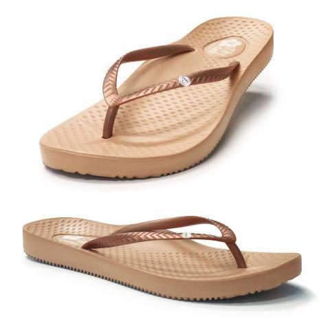Tiki Girl Flip-Flops ROSE GOLD